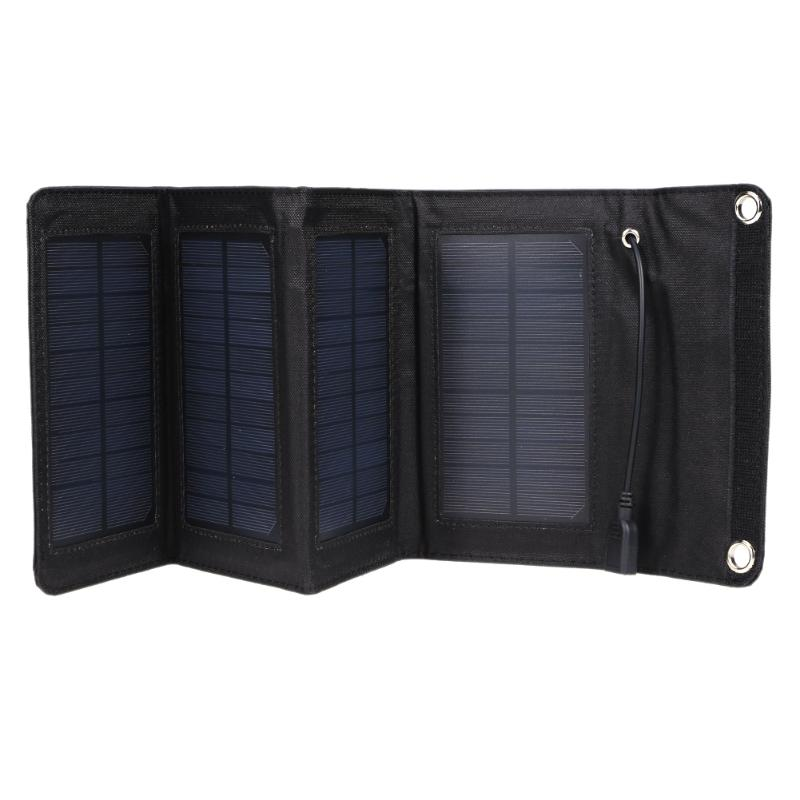 7W Foldable Solar Panel Board Waterproof Monocrystal PET Solar Panel Charger Power Supply Mobile Power Bank for Smartphone