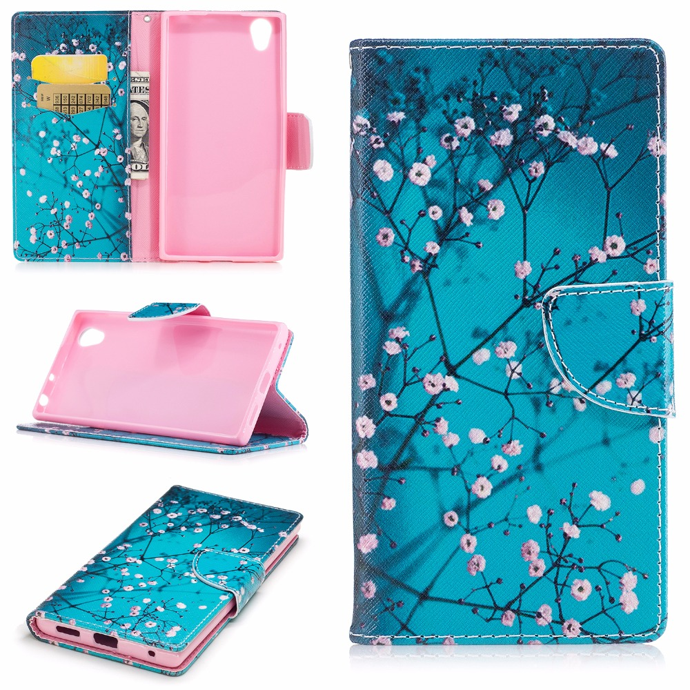 luxury flip colorful leather case for coque sony xperia l1 l 1 g3312 g3311 stand case cover for. Black Bedroom Furniture Sets. Home Design Ideas