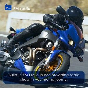 Image 3 - Мотогарнитура Qtb35 для мотоциклетного шлема, водонепроницаемые наушники с поддержкой Bluetooth, FM радио