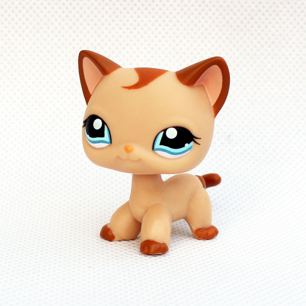 ON SALE original pet shop toys standing #1024 light brown short hair cat cute animal kitty for kids collection image