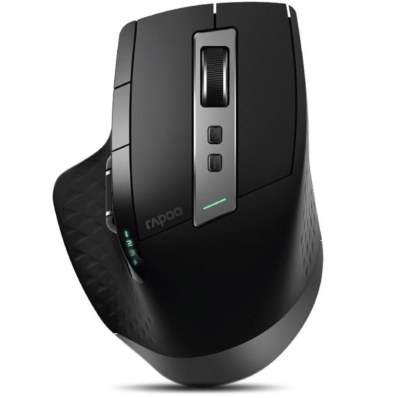 Rapoo MT750S перезаряжаемая многомодовая беспроводная мышь с 3,0 dpi Bluetooth 4,0/2,4 RF 3200 GHz для четырех устройств подключение офиса