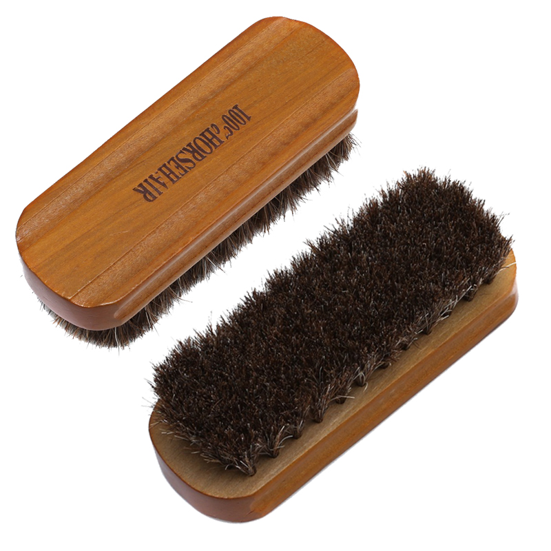 Horsehair Shoe Brush Polish Natural   Leather   Real Horse Hair Soft Polishing Tool Bootpolish Cleaning Brush For   Suede   Nubuck Boot