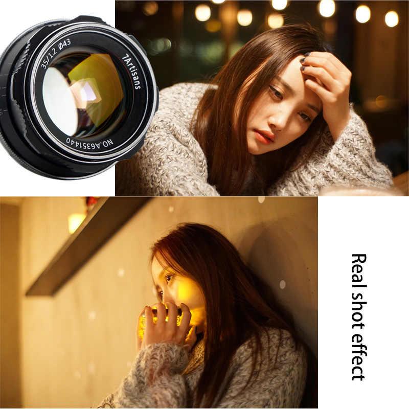 7artisans 35 мм F1.2 APS-C ручной объектив с фиксированным фокусным расстоянием для E для объектива EF Canon EOS-M крепление Fuji FX Mount лидер продаж, Бесплатная доставка