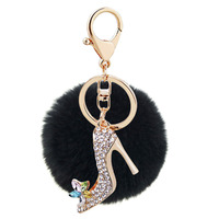 Crystal Elephant Bunny Keychain Fur Hare For Womens Bag Famous Luxury Brand Chan Designers Charms Car