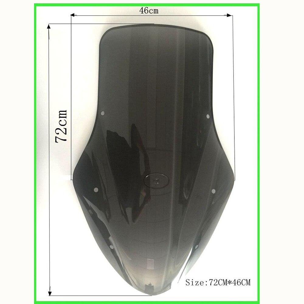 Modifié Moto scooter nmax NMAX155 pare-brise Pare-Brise Pare-Brise Vent Déflecteurs de Vent pour Yamaha NMAX155 NMAX 155 2016-2018