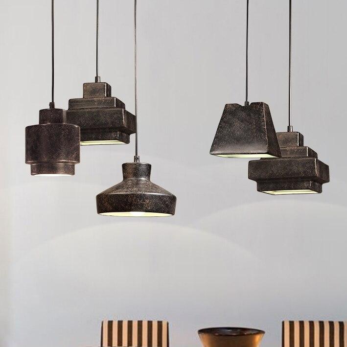 где купить Nordic Retro Ceramic Single Droplight Vintage Industrial Gray Pendant Lights Fixture Home Indoor Lighting Cafes Pub Hanging Lamp по лучшей цене