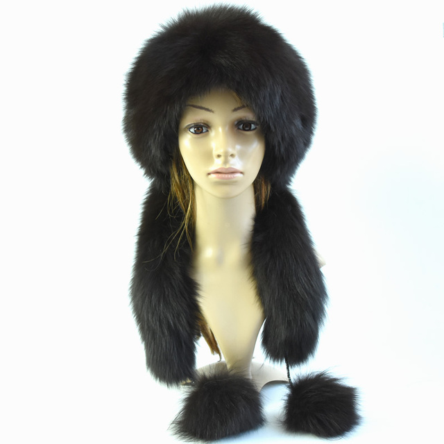 Woman fashion winter fur hat leather hat Ms. Rabbit hair fox fur earmuffs casual top hat free shipping