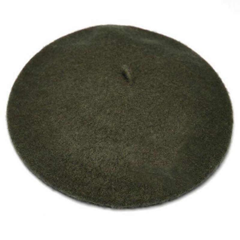 قبعات نسائية للربيع والشتاء قبعات ذات ألوان سادة قبعات نسائية بغطاء للتدفئة والمشي قبعات نسائية من الصوف عتيقة