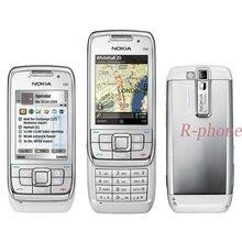 オリジナルノキア E66 携帯電話 2 グラム 3 グラムロック解除改装 E66 スライダー電話アラビアロシアヘブライ語キーボード