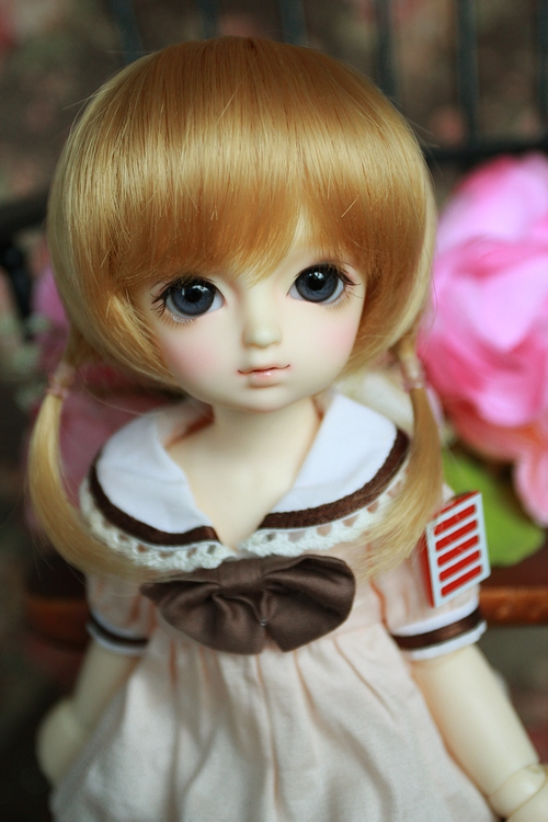 ФОТО new arrival free shipping multicolor wig hair for 1/6 SD bjd wig
