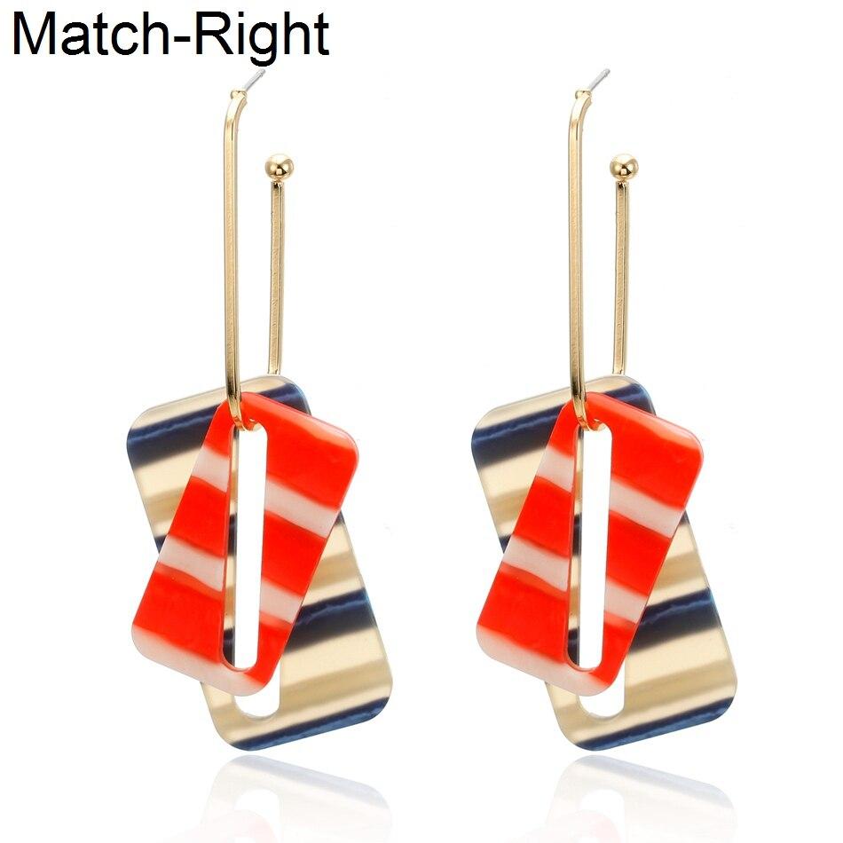 Match-Right Trendy Earrings for Women/Statement/Long/Hanging/Dangle/Korean/Acrylic/Drop Earrings Female oorbellen brincos sp617