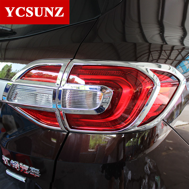 2016-2017 For Ford Everest Accessories ABS Chrome Tail Lights Cover Parts For FORD Evere ...