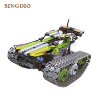 DIY high speed Stunt car 2.4G 4CH electric ABS rotation crawlers remote control tank model Children toy Christmas gift