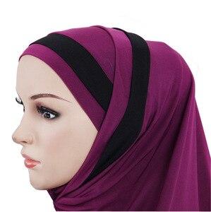 Image 5 - 2PCS Muslim Hijab Islamic Women Under Scarf Bone Bonnet Ninja Head Cover Inner Cap Arab Prayer Hat Ladies Ramadan Turban Fashion