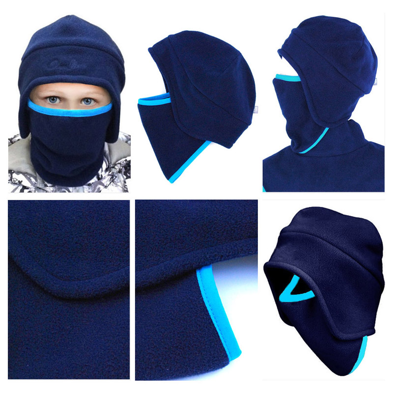 Super Boys Gilrs Kids Balaclava Mask Kids Ski Mask for Boys Two Double  WC86