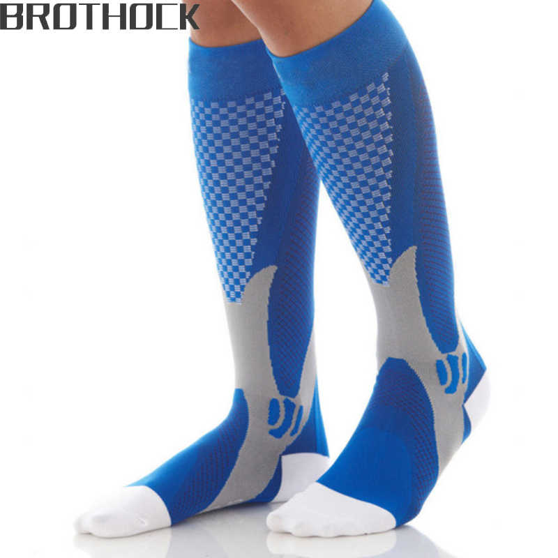 Brothock Compression stockings Running basketball football socks Nylon Anti-swelling stretch Outdoor sports compression socks