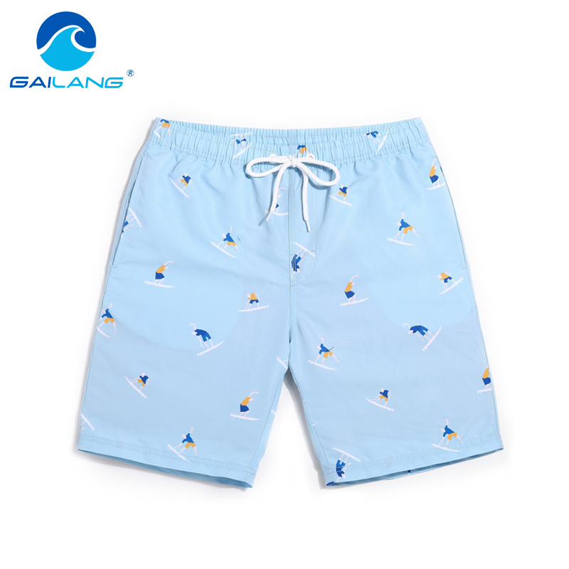 Gailang Brand Men Beach Shorts Boxer Trunks Board Shorts Casual Bermuda Mäns Baddräkt Baddräkter 2017 New Fashion Quick Drying