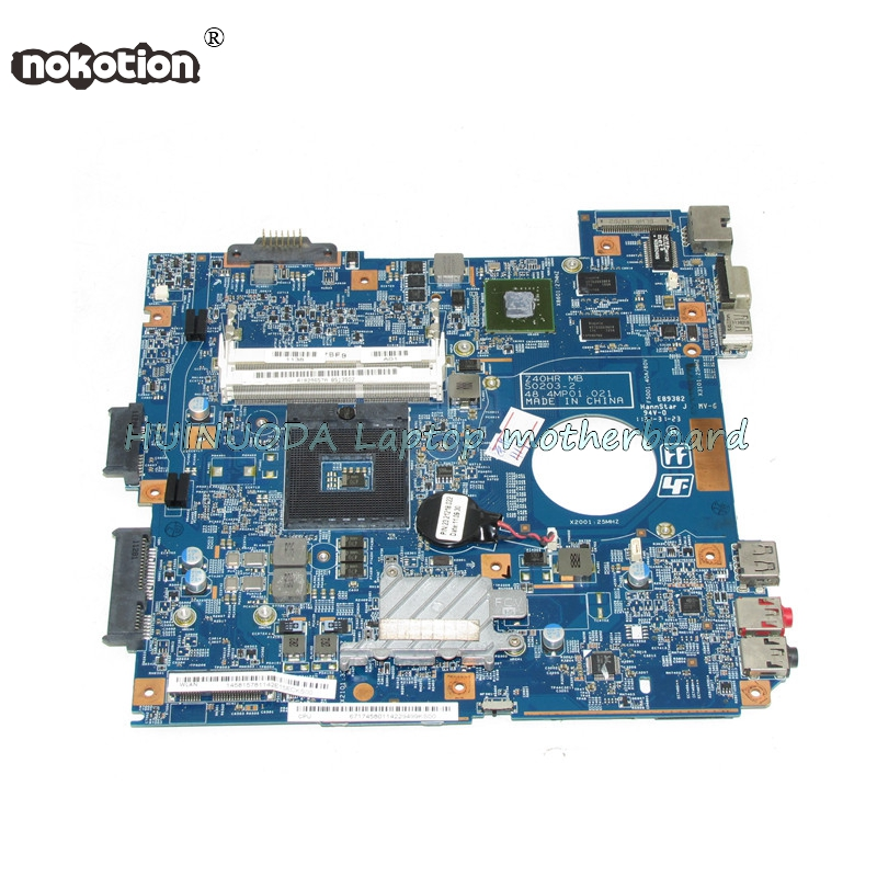 NOKOTION MBX-250 Laptop motherboard For Vaio PCG-61911w VPCEG VPCEG18FG HM65 DDR3 48.4MP01.021 GT410M GPU Mainboard mbx 165 ms90 rev 1 2 a1273690a laptop motherboard fit for sony vaio vgn fz series 100% tested and working