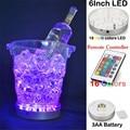 1 peças/lote Remote Controlled LightingRechargeable LED Balde de Gelo Luz Central Sob Vaso Base de Luz para a Decoração Do Casamento