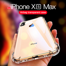 купить For iPhone X 6 7 8 Plus Phone Case For iPhone XS Max XR 4 4s 5S 5 SE Clear Shockproof Soft Silicone Transparent Cases wholesale по цене 284.62 рублей