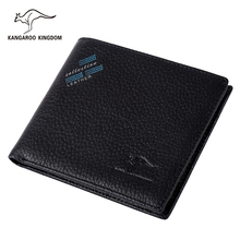 Kangaroo Kingdom Luxury Brand Men Wallets Genuine Leather Short Wallet Male Pocket Leather Purse