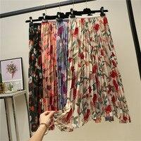 Цветочная юбка с плиссировкой