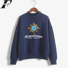 LUCKYFRIDAYF Hip Hop Hearthstone Turtlenecks Hoodies Game Anime Sweatshirts Casual Kpop Women Hoodies Casual Clothes Plus Size цена