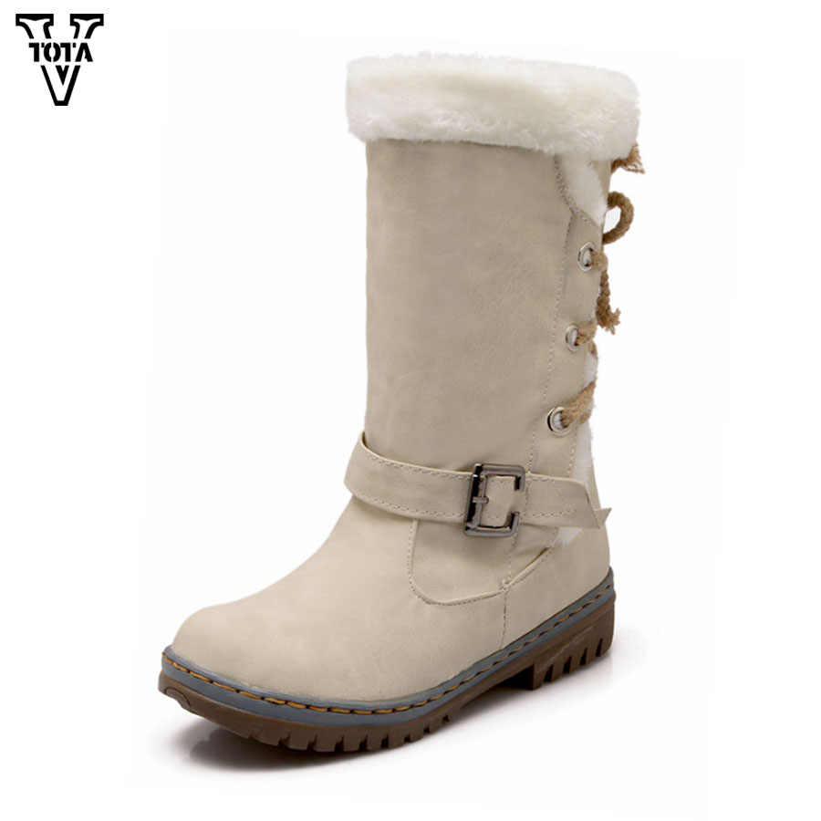 VTOTA Winter Stiefel Frauen Dame Schuhe Große Größe 34-43 Gleitschutz Wasserdicht Schnee Stiefel Mode Casual Stiefel Mit Dicken pelz Botas