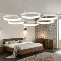 Chandelier LED Modern Simple Home Master Bedroom New Personality Lamp Atmosphere Restaurant Round Ring Living Room