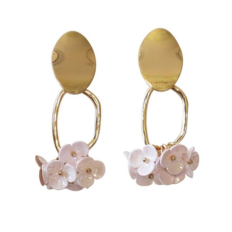 Fashion Trendy earrings flowers drop earrings for women Vintage creative temperament contracted woman drop earrings fine jewelry in Drop Earrings from Jewelry Accessories