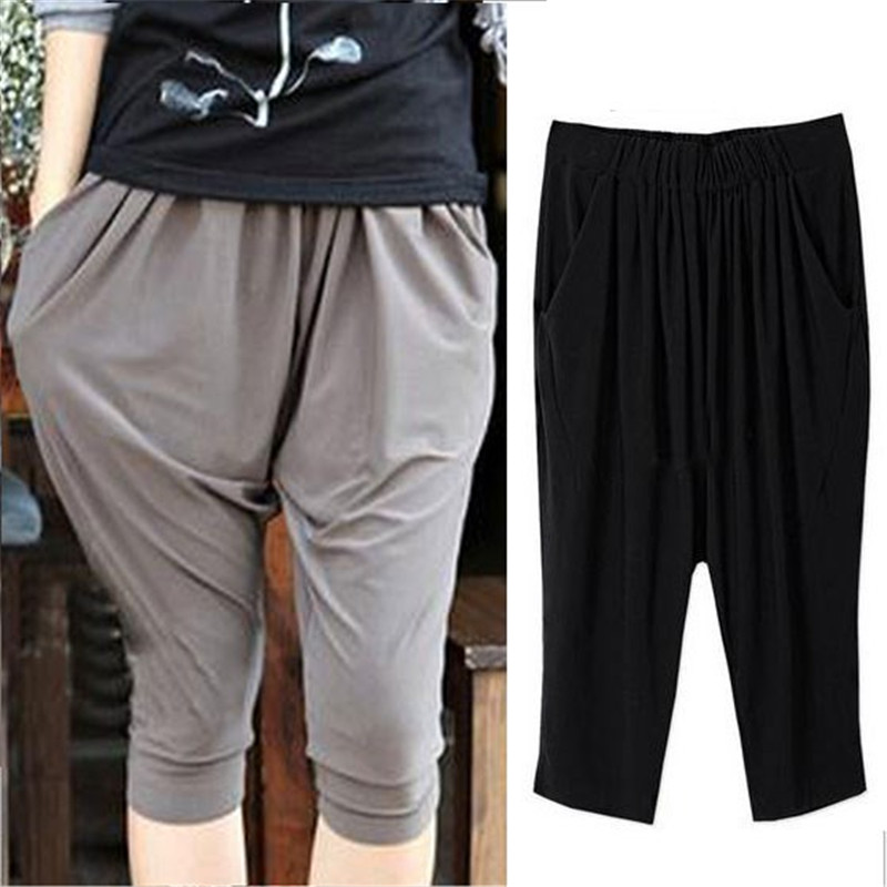 women summer loose cotton   pants     capris   plus size XL 2XL 3XL 4XL 5XL 6XL 7XL 8XL clothing loose slim Trouseres casual   pants