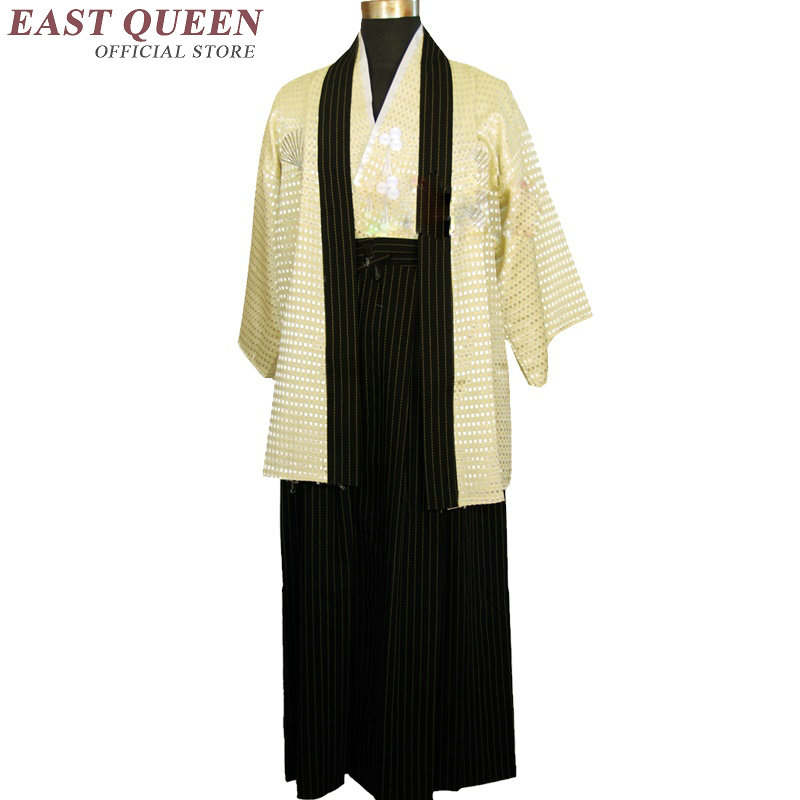 Japanese Kimono Traditional Men Yukata Male Samurai Costume Kimono Clothing Japanese Cosplay Warrior Costume Haori KK355