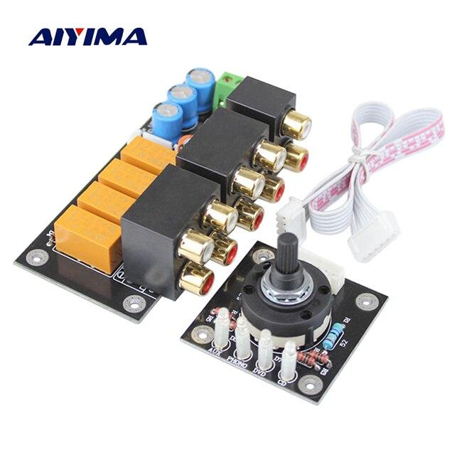 AIYIMA RCA аудио коммутатор Вход выбора доска сиденье lotus стерео реле 4 аудиоданных Вход селектор сигналов усилитель переключения DIY
