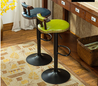 American Bar Chair Lifting Rotation Solid Wood Chair The Foot Stool Coffee Chair
