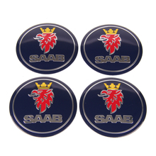 Auto Tires Rim Stickers Badge Hub Emblem Car Accessories for SAAB 900 97 97X 96 9000 PhoeniX 9-x 92 9-4x 99 1995  9-5 1993 9-3