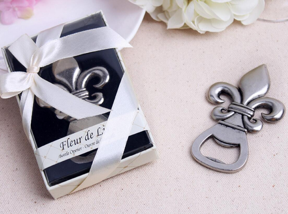 lastest fashion new alloy metal Fleur de Lis beer bottle opener summer on beach for Wedding Party Favor decor Gift