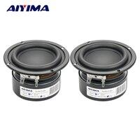 Aiyima 2 PCS Tweeter Audio Speaker Portátil Mini Stereo Woofer Falantes Gama Completa Altifalante de Corneta 3 polegada 4 Ohm 25 W