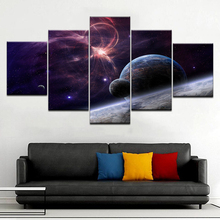 SpaceX Fanstore Star modern 5 Panel wall posters Canvas Art Painting For home living room decoration