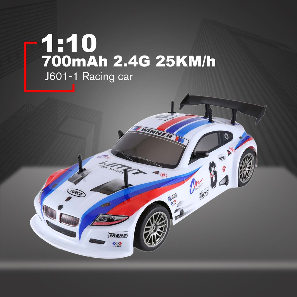 J601-1---9 1/10 700mAh 2.4G Racing Car <font><b>1:10</b></font> <font><b>RC</b></font> Model Car 25KM/h Flat Sports <font><b>Drift</b></font> Vehicle Toys EU Plug For Children Gifts image