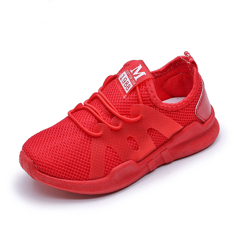 New Fashion Boys Sneakers Girls Shoes For Kids Sneakers Children Shoes Summer Breathable Mesh Lace Up Toddler Sapato Infantil