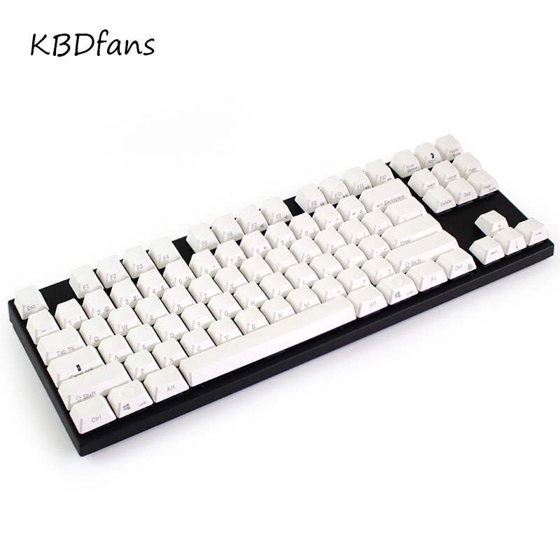 все цены на Free shipping Side printed PBT keycaps black keys for wried mechanical gaming keyboard cherry profile 87keys keycap онлайн