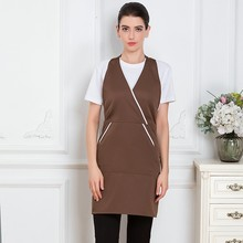 V-neck Chef Apron Waiter Waitress Uniform Hotel Restaurant Coffee Shop Bakery Catering Service Kitchen Cleaning Work