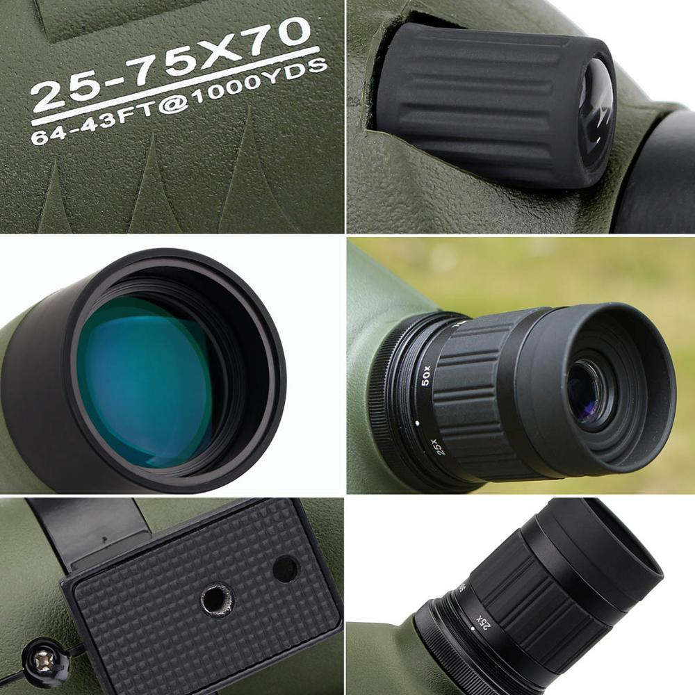 SVBONY Spotting Scope 20-60x60 / 25-75x70mm Zoom telescoop BAK4 - Jacht - Foto 4