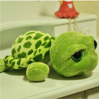 2018 New arriving 20cm Army Green Big Eyes Turtle Plush Toy Turtle Doll Turtle Kids As Birthday Christmas Gift Free shipping 1