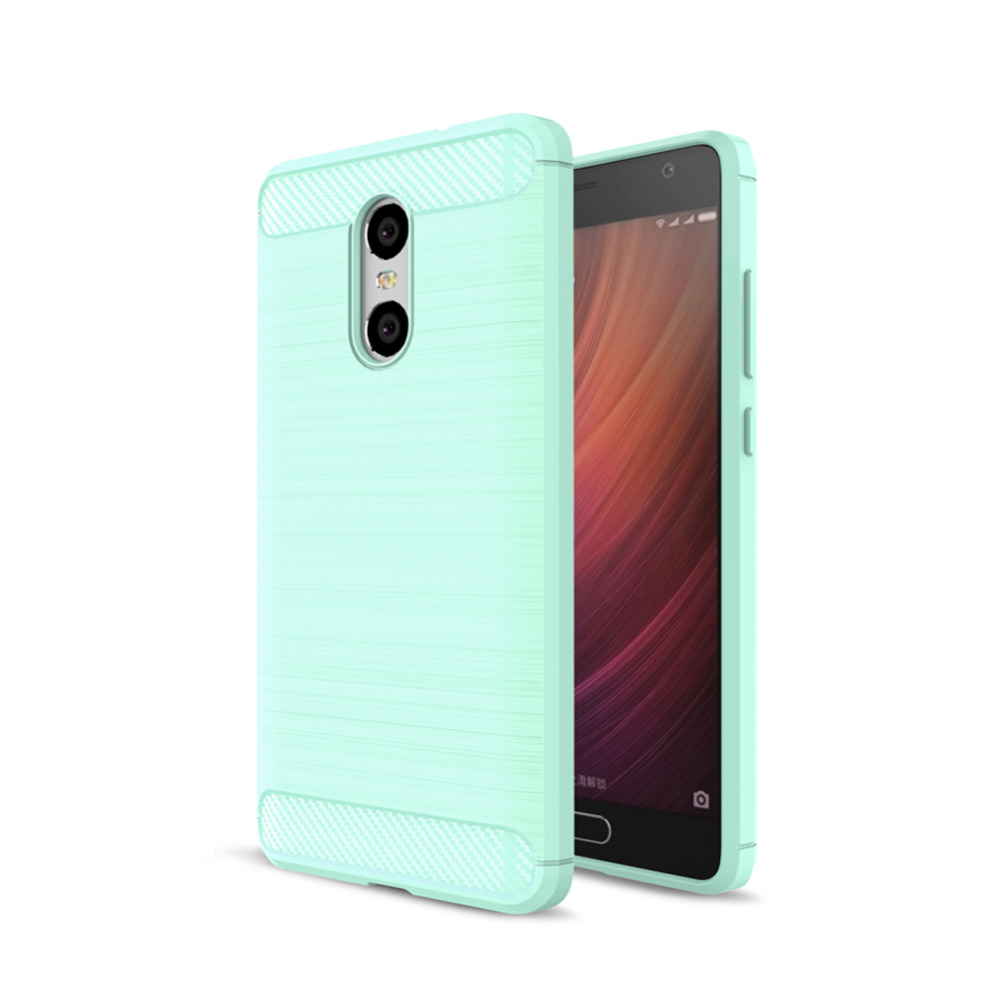 Carbon Fiber Flexible TPU Case for Xiaomi Redmi Pro Phone Case, ShockProof Anti-Slip Slim Protective Back Cover