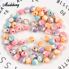 Meideheng Acrylic Washing Color Beads Imitated Rosay Beads Handmade Accessories For Bracelet Necklace Design Jewelry Making цена