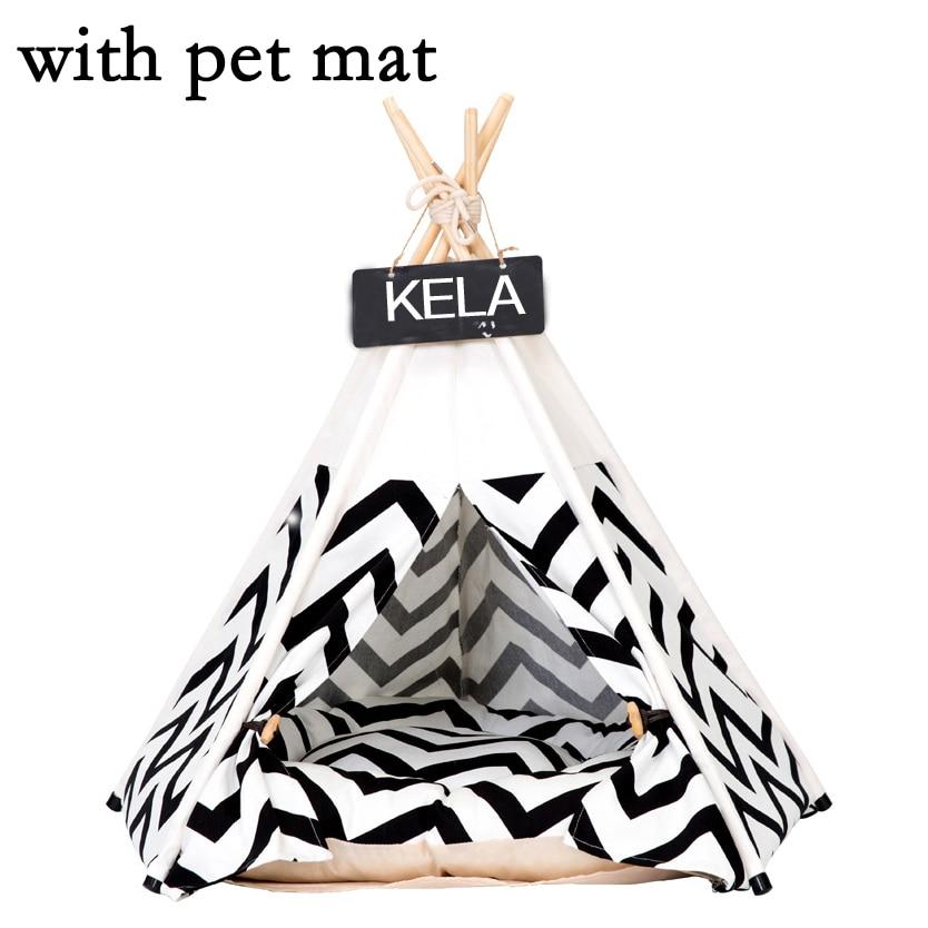JORMEL pour animaux de compagnie tente chien lit chat jouet maison Portable lavable pour animaux de compagnie tipi rayure motif mode 2019 contient tapis