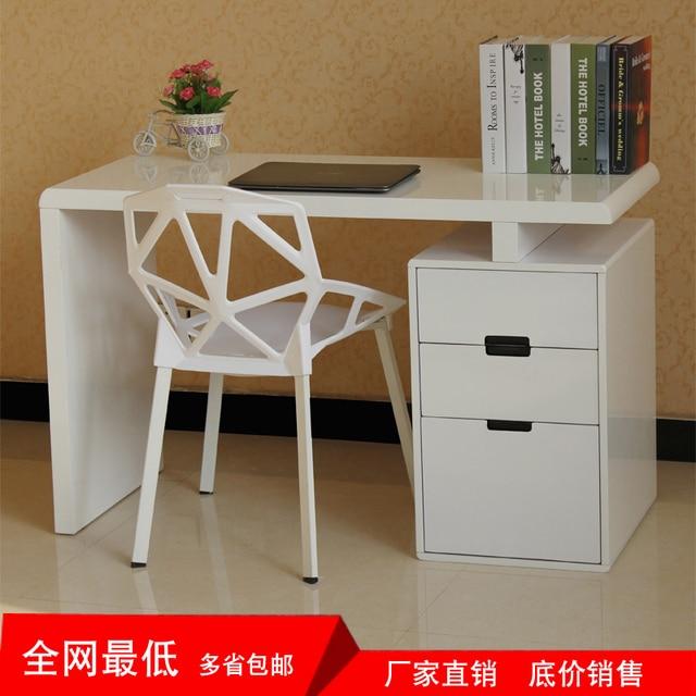 Modern And Simple Combination Bookcase Desk Corner Computer Desk Study Desk  Furniture Paint