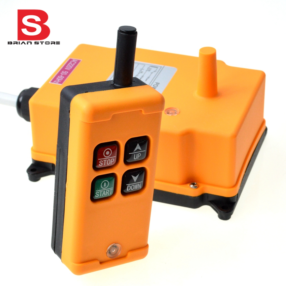 1 Transmitter 4 Channels 1 Speed Control Hoist industrial wireless  Crane Radio Remote Control System OBOHOS-in Switches from Lights & Lighting