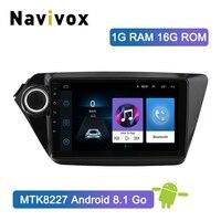 Navivox 2Din Автомагнитола Android 8,1 dvd плеер gps навигации для Kia k2 RIO 2010 2011 2012 2013 2014 2015 головное устройство стерео